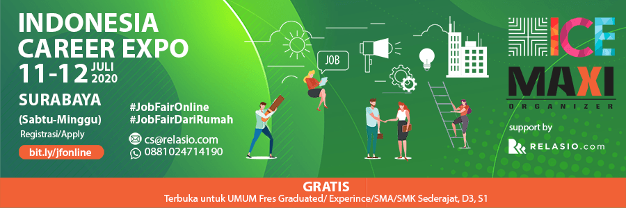 Indonesia Career Expo Job Fair Online Surabaya 11-12 Juli 2020