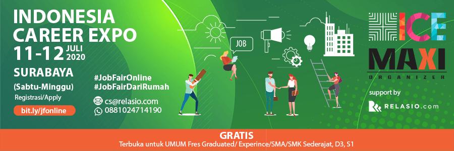 Indonesia Career Expo Job Fair Online Surabaya 11-12 Juli 2020